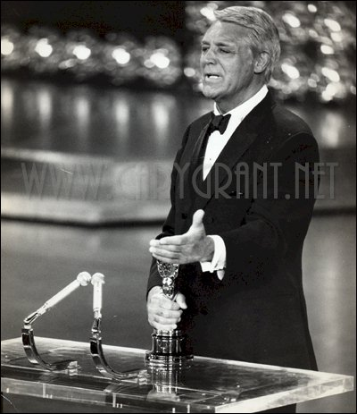 Visit YouTube to view video of Cary Grant Accepting his Honorary Oscar